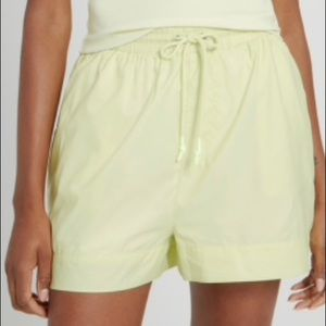 NWT Frank and Oak Baggy High Waist Short in Yellow